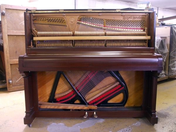 Broadwood upright detail 2 - fully restored