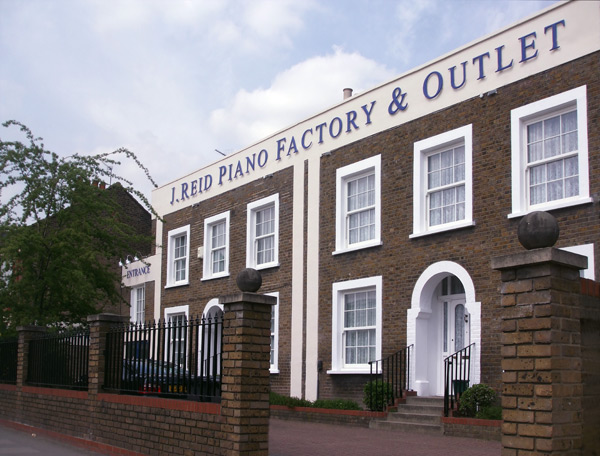 The historic J Reid Pianos factory building