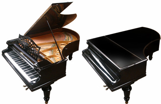 "Bechstein 6'6"" Grand Piano Ebony image 3"