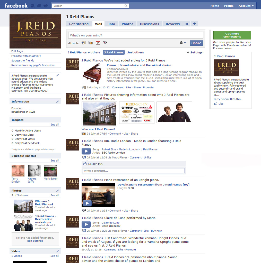 J Reid Pianos on Facebook