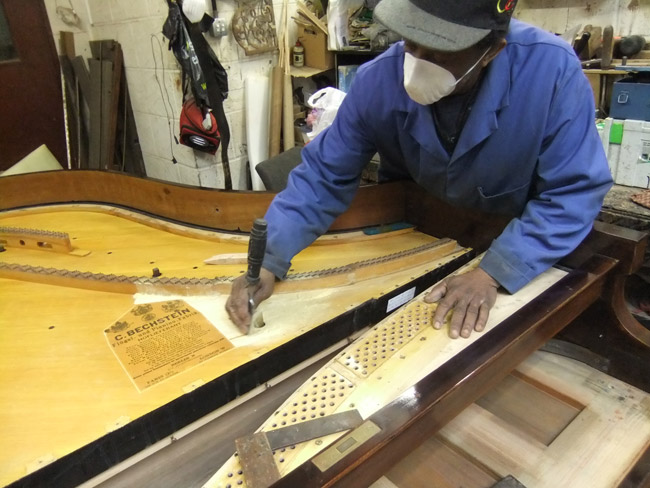 Grand Restoration - perfecting the soundboard