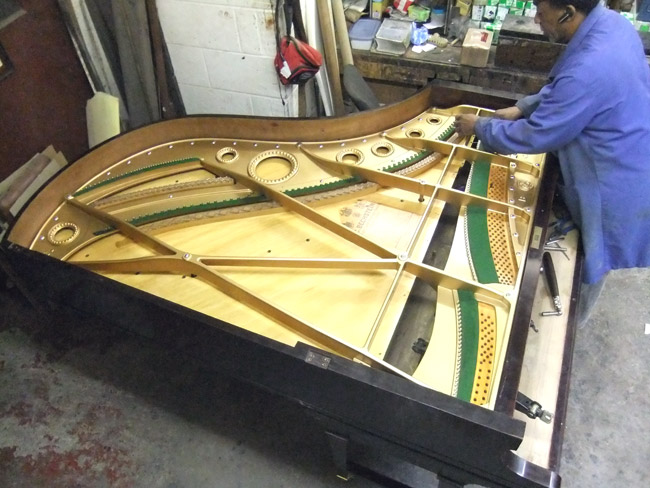 Rebuilding grand piano - detail