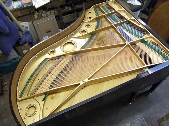 Restrung grand piano