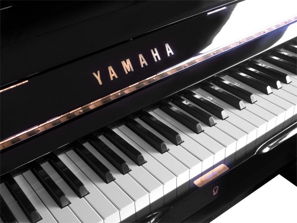 Yamaha Upright Piano - close-up