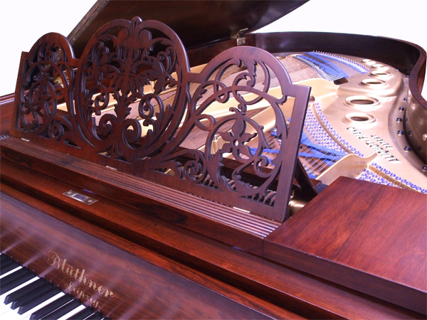 Bluthner Model 4 grand piano detail - fully restored