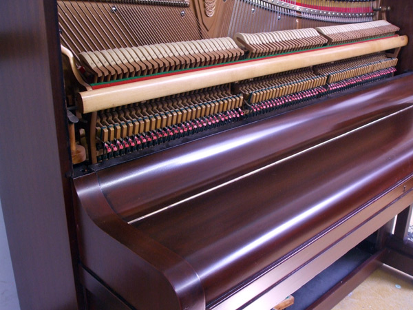 Broadwood upright piano detail 1 - fully restored