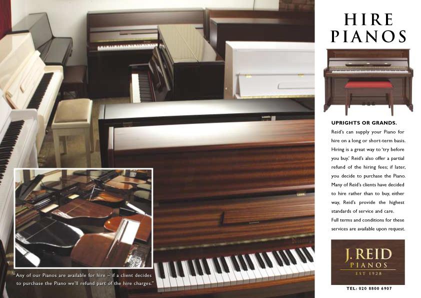 J Reid Pianos - Piano Hire