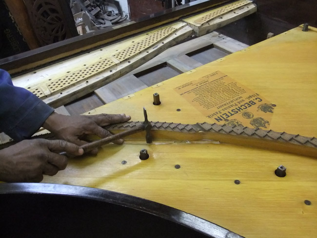 Piano Restoration - repairing the soundboard